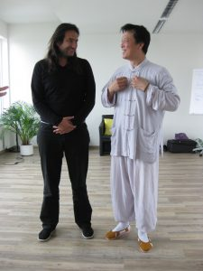 Mit Zhang Xiao Ping in Hamburg